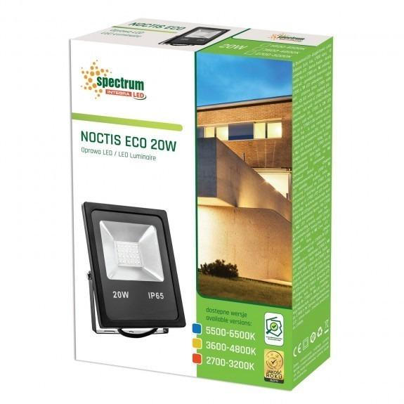 LED Fluter / Scheinwerfer NOCTIS Eco in Schwarz 20 Watt Lichtfarbe wählbar-5.500 - 6.500 K kaltweiß