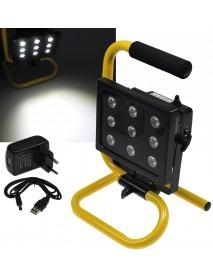 LED Baustrahler mit Akku 9x2.5W LEDs