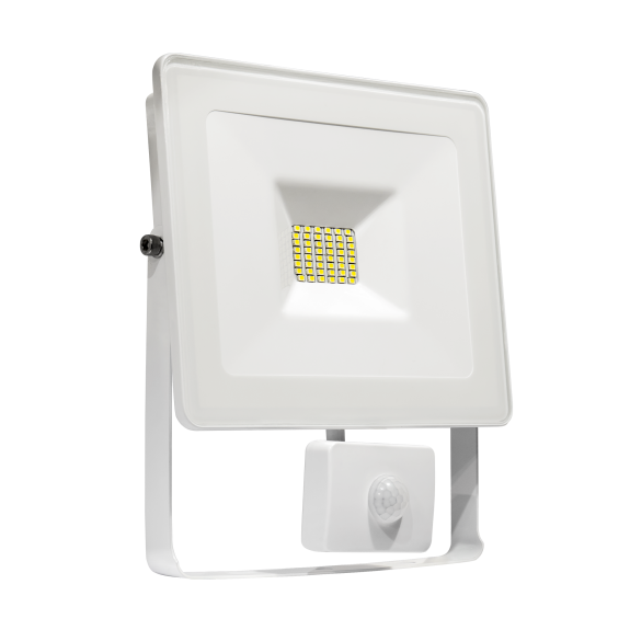 LED Fluter / Scheinwerfer NOCTIS Lux in Weiß 20 Watt mit Bewegungsmelder