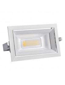 Neigbarer LED Decken-/Wand-Einbaustrahler rechteckig 30W 2150lm neutralweiß
