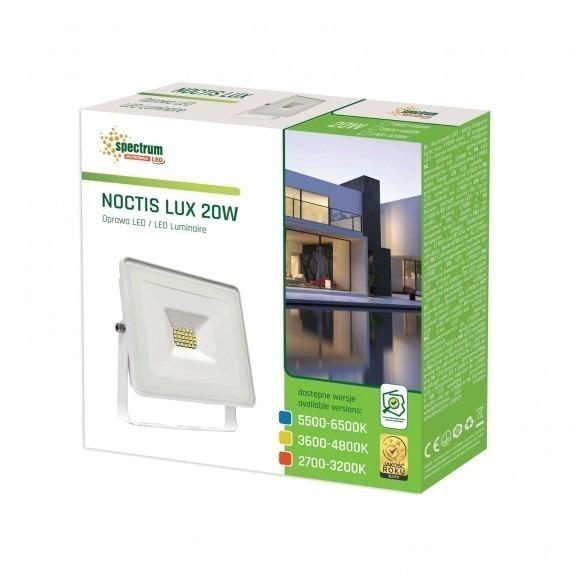 LED Fluter / Scheinwerfer NOCTIS Lux in Weiß 20 Watt - Lichtfarbe wählbar -3.600 - 4.800 K neutralweiß