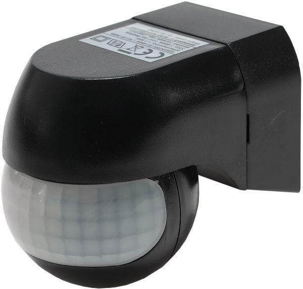"""Aufputz Bewegungsmelder """"CBM-Slim"""" 180° LED geeignet, IP44, 1-800W, schwarz"""