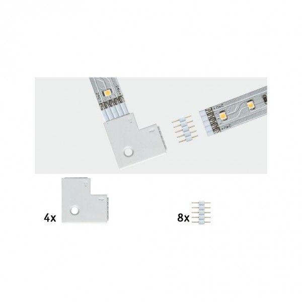 Paulmann MaxLED Eckverbinder 90° 4er-Pack weiß inkl. 8 Steckverbinder