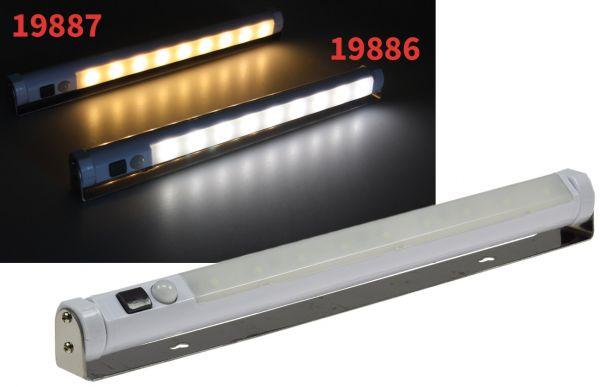 LED Unterbauleuchte mit Bewegungsmelder Batteriebet., 9 SMD LEDs, 80lm, weiß