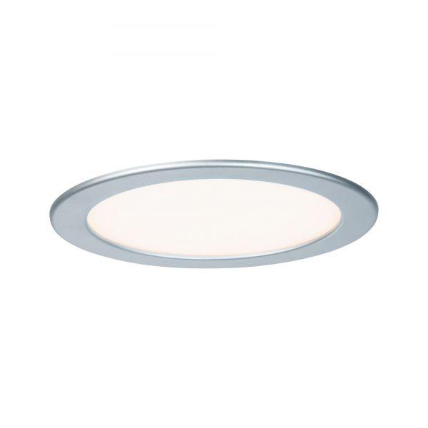 Paulmann Quality EBL Set Panel rund LED 1x18W 2700K 230V 220mm Chrom matt/Kunststoff