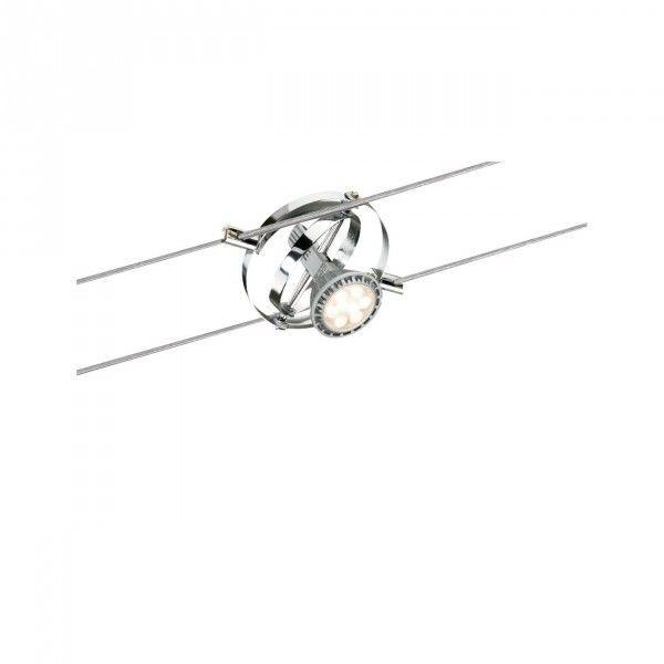 Paulmann WireSystem Seilspot Cardan Chrom matt, GU5,3, 12V