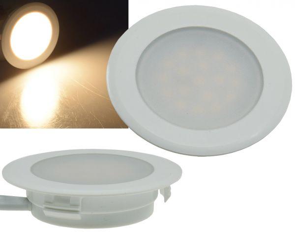 "LED-Einbauleuchte ""EBL-HV65w"", weiß 2 Watt, 230V, 3000K, 160Lm, warmweiß"