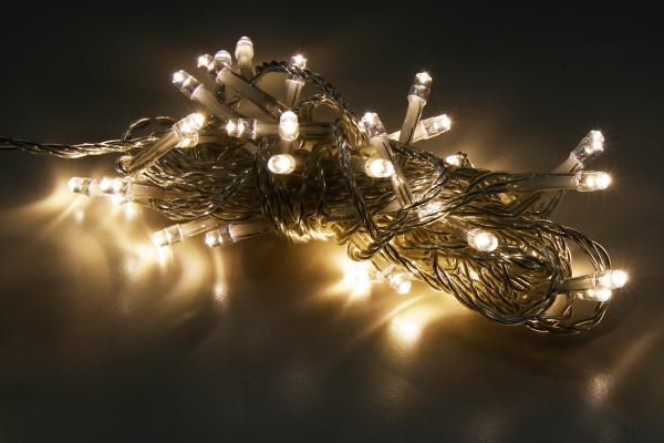 LED Lichterkette McShine, 40 LEDs, 4m + 2m Zuleitung, warmweiß, IP44