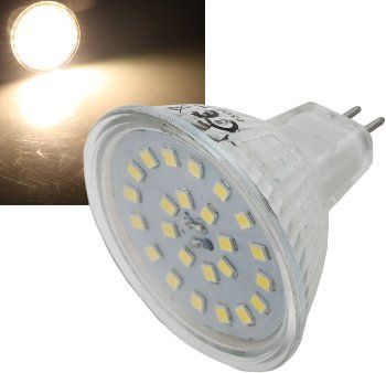 "LED Strahler MR16 ""H55 SMD"" 120°, 3000k, 400lm, 12V/5W, warmweiß"
