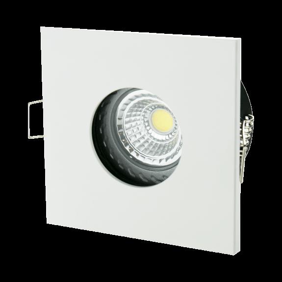 Eckige Feuchtraumfassung Badezimmer IP65 inkl. GU10 Fassung Farbe wählbar