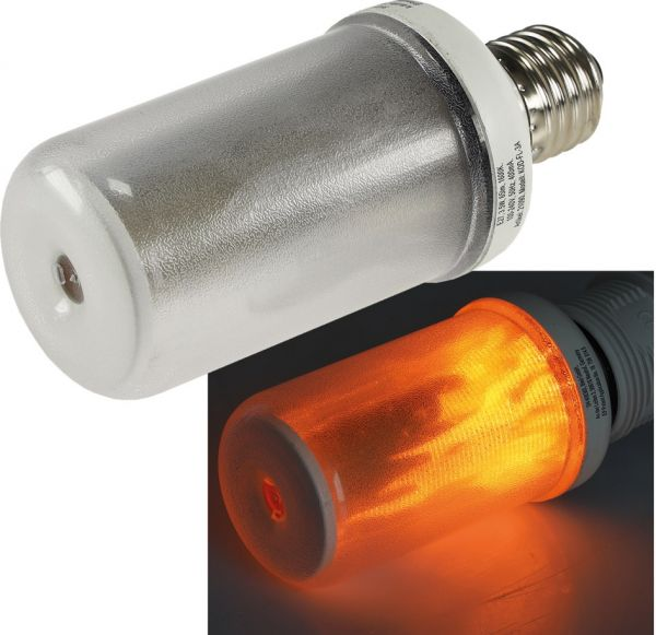 "LED Dekolampe E27 ""Flamme"" 1600K 3W, 65Lm, 230°, COB-LED, Flacker-Effekt"