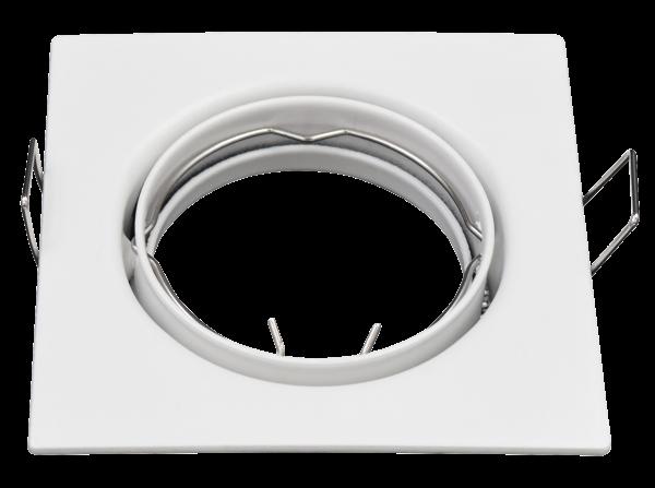 Einbaurahmen McShine ER-81 weiß, 81x81mm, schwenkbar
