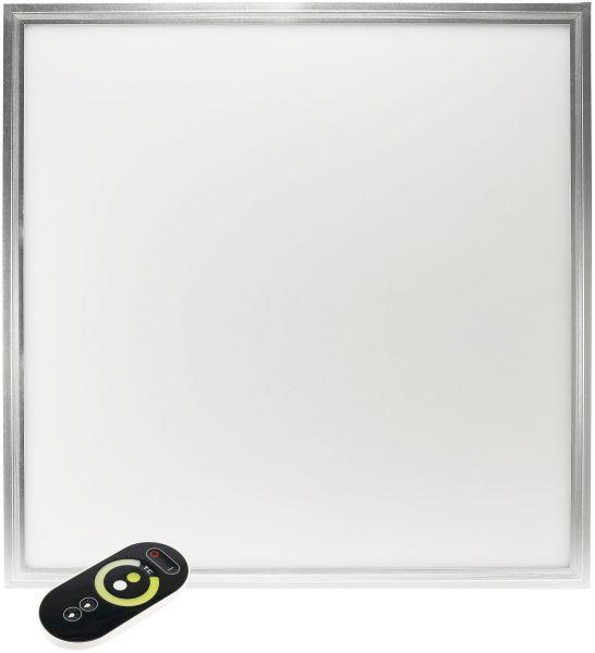"LED Licht-Panel ""CC-60S"", 60x60cm Lichtfarbe+Lumen per FB regelbar"