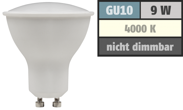 LED-Strahler McShine PV-90 GU10, 9W, 900lm, 120°, 4000K, neutralweiß