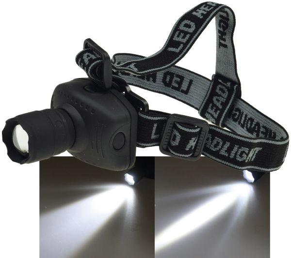 LED-Stirnlampe mit fokussierbarer 1W LED inkl. Batterien