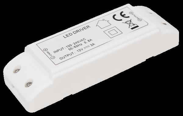 LED-Trafo McShine, elektronisch, 1-36W, 230V auf 12V, 140x45x27mm