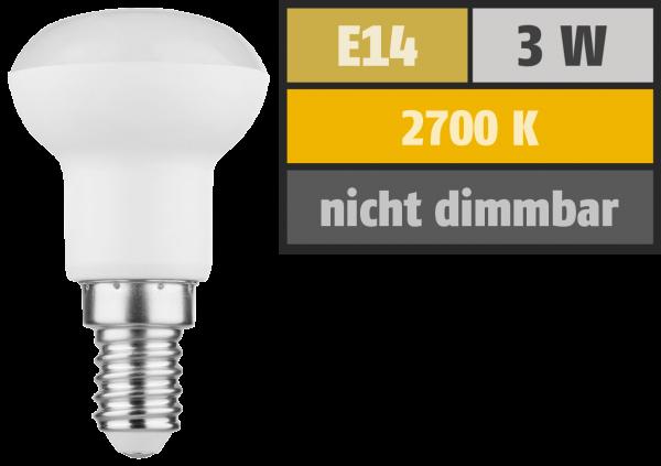 LED Reflektor R39, E14, 3W, 250lm, 2700K, warmweiß