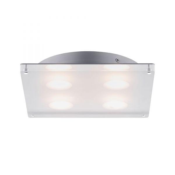Paulmann WallCeiling DL eckig Minor IP44 LED 18W 230x230mm Satin 230V Acryl
