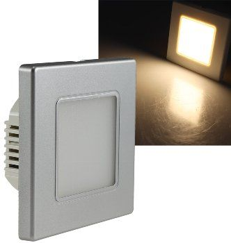 """LED Wand-Einbauleuchte """"EBL 86"""" 2,5W, 3000k, warmweiß, Rahmen silber"""
