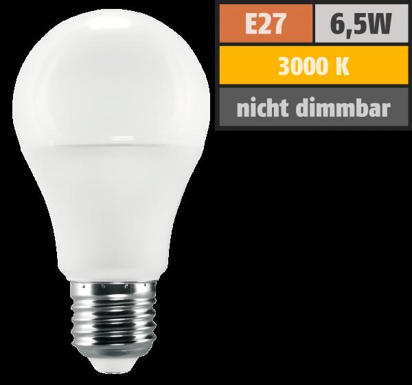 LED Glühlampe McShine SuperBright E27, 6,5W, 1050lm, 270°, 3000K, warmweiß