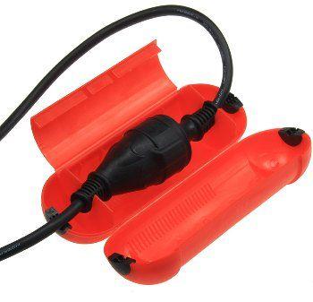 Sicherheits-Schutzbox für Kabel, IP44 205 x Ø 68mm, rot