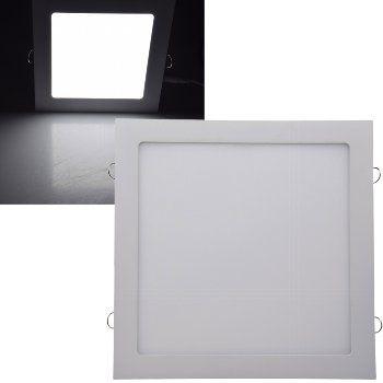 "LED Licht-Panel ""QCP-30Q"", 30x30cm 230V, 24W, 1720 Lumen,4200K /neutralweiß"