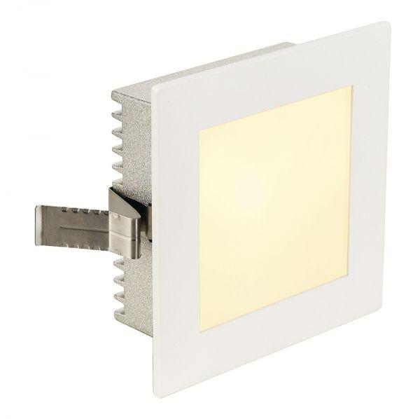 slv flat frame basic einbauleuchteeckig weiss g4 max 20w eckige einbaulampen. Black Bedroom Furniture Sets. Home Design Ideas