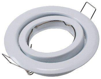 """Decken-Einbaustrahler """"SR90"""" weiß schwenkbar, Ø98mm, für 50mm Lampen"""