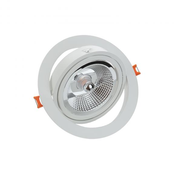 SpectrumLED MDD MAXI UNO ES111 Einbaurahmen Rund Aluminium Weiß