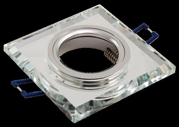 Einbaurahmen McShine Kristallglas eckig, transparent, 90x90mm