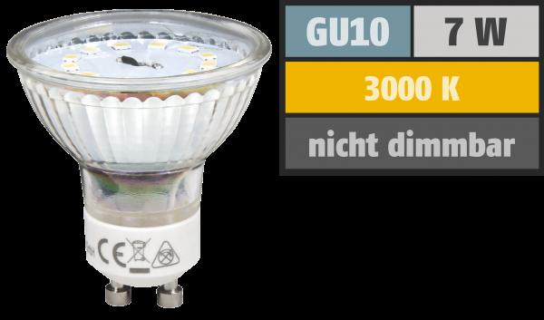 LED-Strahler McShine ET70, GU10, 7W, 470 lm, warmweiß