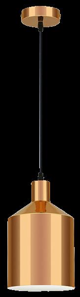 Hängeleuchte mit Schirm, Metall, E27, kupfer, Ø 170mm
