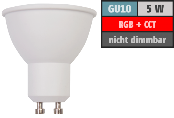 Wifi Smart LED Strahler itius, 5W, RGB + CCT, Alexa, Google Assistant, App