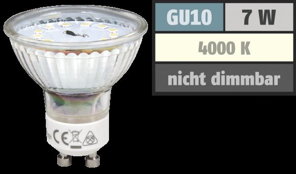 LED-Strahler McShine ET70, GU10, 7W, 470 lm, neutralweiß