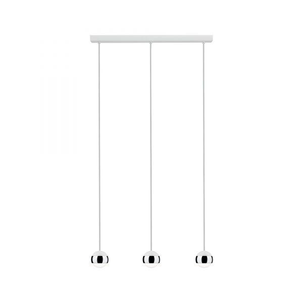 Paulmann Capsule Pendellleuchte LED 3x6W Weiß Chrom 230V Glas/Metall