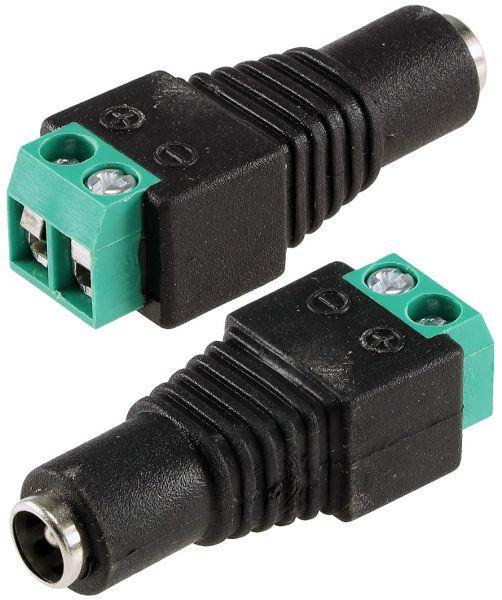 Anschluss-Adapter für LED-Stripes Lüsterklemme auf 5,5/2,1mm Kupplung