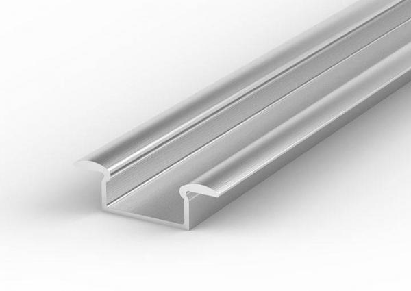 LED Einbauprofil für LED Streifen Silber eloxiert verschiedene Längen