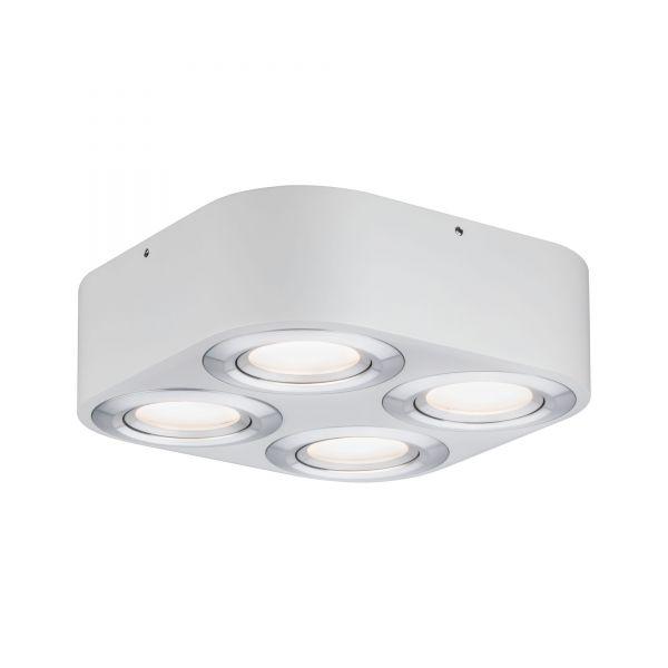 Paulmann WallCeiling Argun LED 4x4,8W Weiß Alu gebürstet 230V Metall