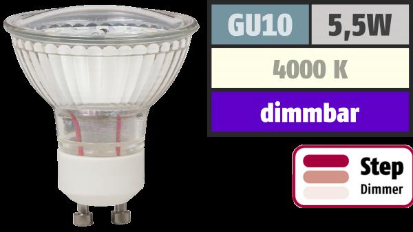 LED-Strahler McShine LS-450 GU10, 5,5W, 470lm, neutralweiß, step dimmbar 100/50/20%