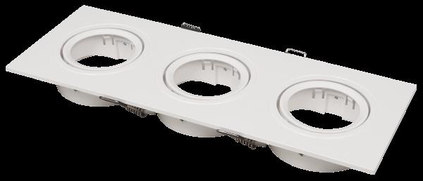 Einbaurahmen McShine DL-483 eckig, 3-fach, 253x93mm, schwenkbar, weiß