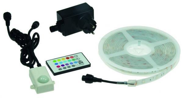 RGB LED-Stripe Set 5m RGB-500 Outdoor 600lm 24W