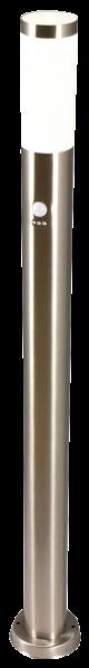Außenleuchte, Ø75x1050mm, Edelstahl, IP44, Bewegungsmelder