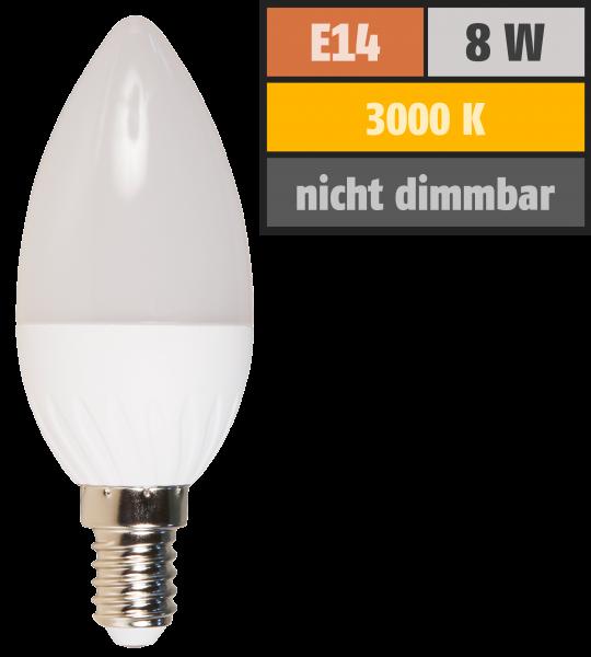 LED Kerzenlampe McShine, E14, 8W, 600lm, 160°, 3000K, warmweiß, Ø37x105mm