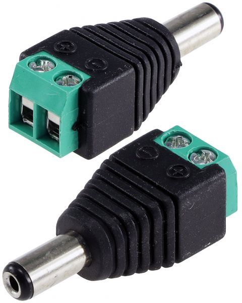 Anschluss-Adapter für LED-Stripes Lüsterklemme auf 5,5/2,1mm Stecker