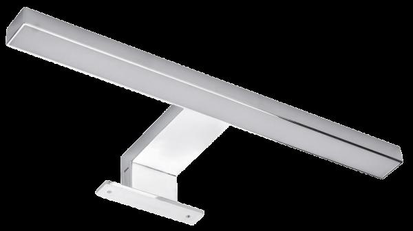 LED Spiegelleuchte, 4,4W, 250lm, warmweiß, 30cm, 3 Montagemöglichkeiten, chrome