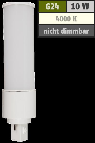 LED-Strahler McShine G24, 10W, 1000lm, 120°, Ø41x164mm, neutralweiß