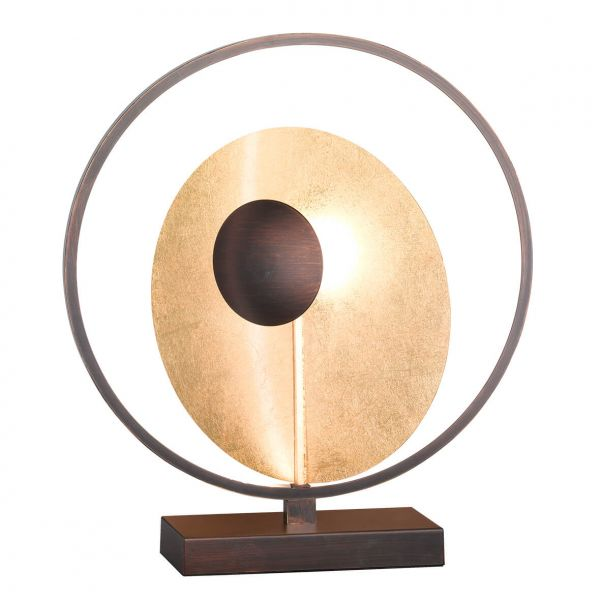 WOFI Design Tischleuchte Catania 3-flammig gold