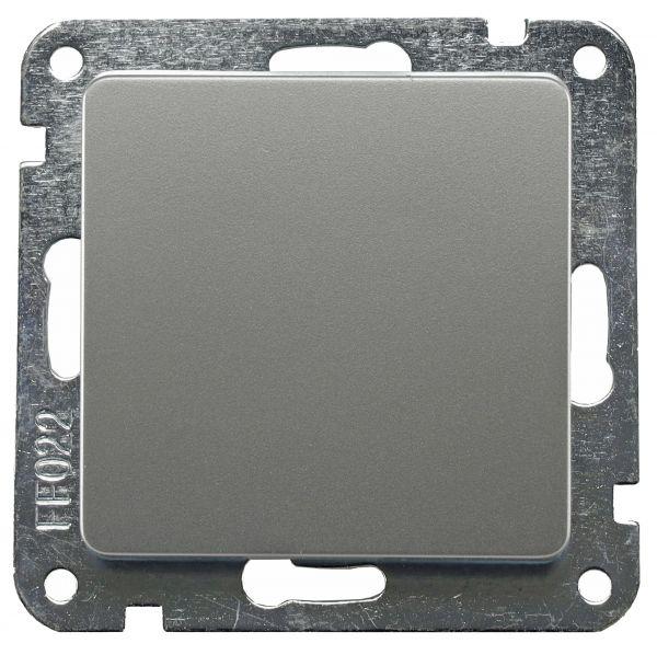 DELPHI Wechsel-Schalter, UP, silber 250V~/ 10A, Klemmanschluss, ohne Rahmen