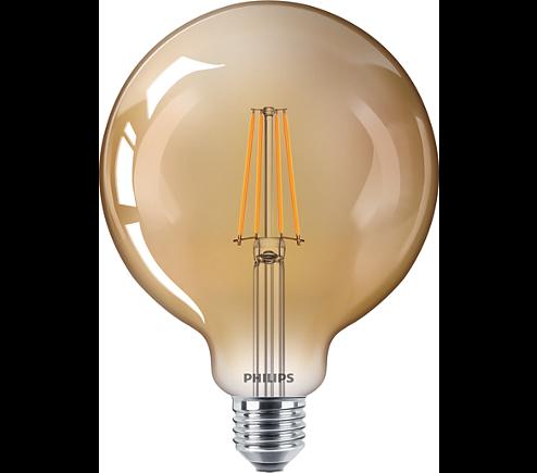 Philips Classic LEDbulb Retro Globeform E27 8 W gold Filament dimmbar