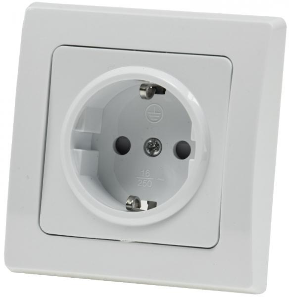 DELPHI Schutzkontakt-Steckdose in Weiß